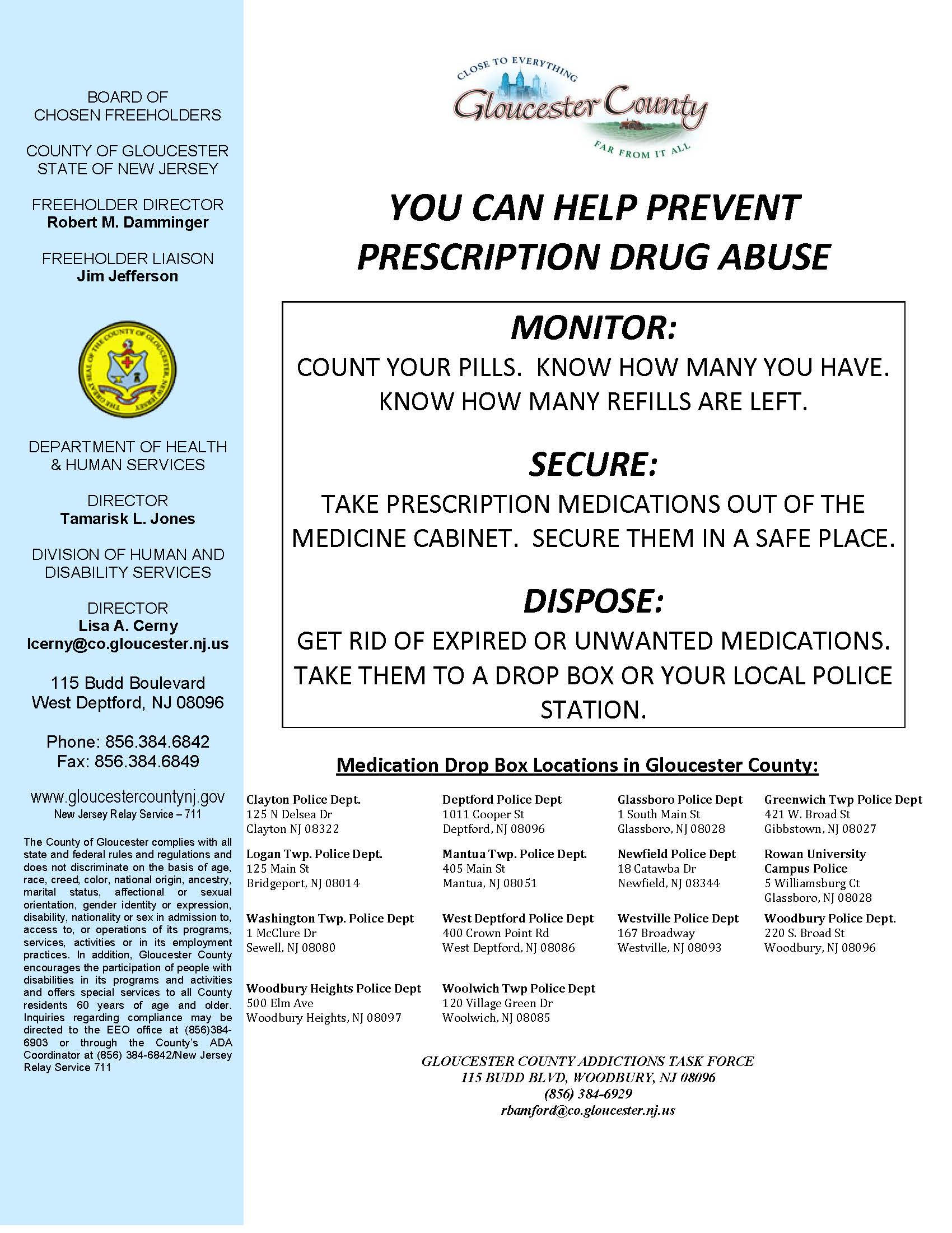 Med Disposal Flyer