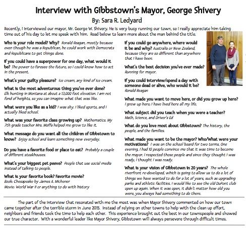Interview with Mayor